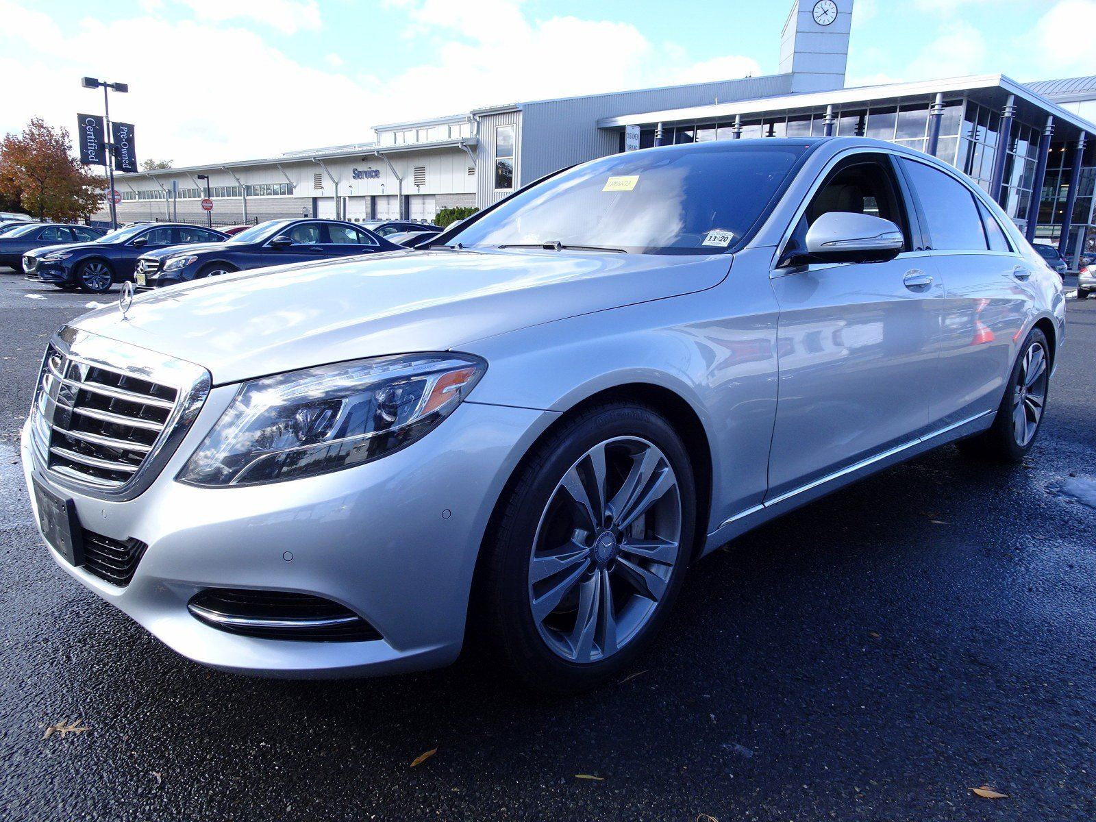Certified Pre Owned 2015 Mercedes Benz S Class S 550 SEDAN in Cherry